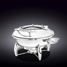 Glass Lid Round Chafing Dish with Stand WL‑559911/AB, fig. 1