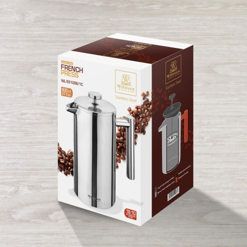 Double Wall French Press in Colour Box WL‑551006/1C, fig. 4
