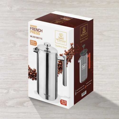 Double Wall French Press in Colour Box WL‑551007/1C, fig. 4