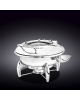 Glass Lid Round Chafing Dish with Stand WL‑559921/AB, fig. 1